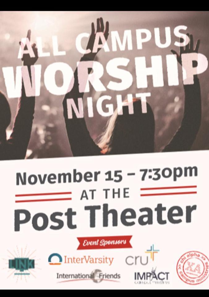 All Campus Worship Night Nov 15
